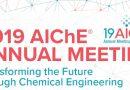 2019 AIChE Annual Meeting